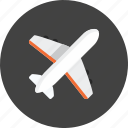 plane, airplane, delivery, flight, holiday, transportation, travel icon