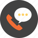 bubble, call, communication, speech, speechbubble, talk, telephone icon