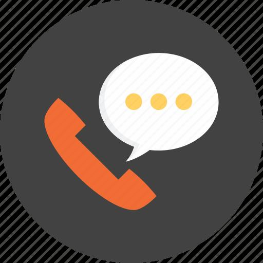 bubble, call, communication, speech, speechbubble, talk, telephone icon