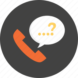 call, center, communication, interface, phone, question, telephone icon