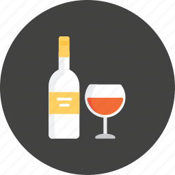 alcohol, beverage, bottle, glass, red, relax, wine icon