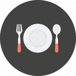 cooking, dating, eating, fork, kitchen, plate, restaurant icon