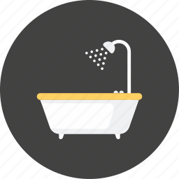 bathroom, holiday, living, room, service, shower, travel icon