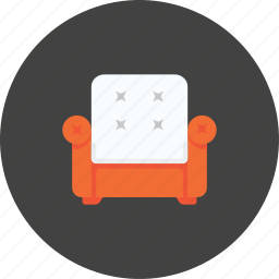 bed, chair, couch, hotel, room, sofa, travel icon