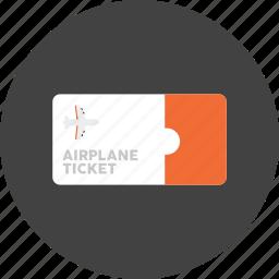 air, flight, holiday, hotel, plane, ticket, travel icon