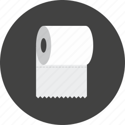 bathroom, hotel, hygiene, paper, toilet, toilet paper icon