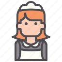 cleaning, hotel, housekeeper, maid, service, woman icon