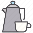 coffee, cup, drink, hotel, mug, pot, tea icon