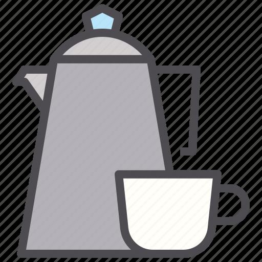 coffee, cup, drink, hotel, mug, pot, tea icon