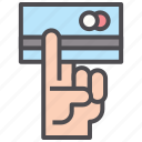 credit card, debit, electronic, money, pay, transaction icon