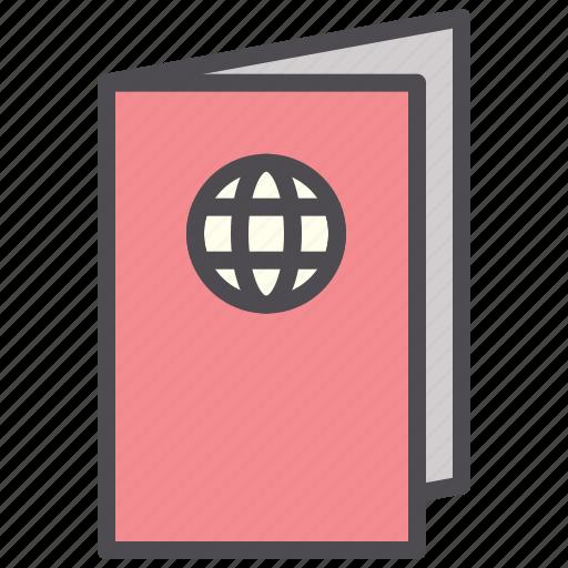 document, foreign, hotel, passport, visa icon