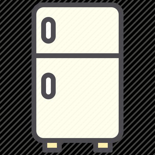 cold, electronic, freezer, fresh, refrigerator icon