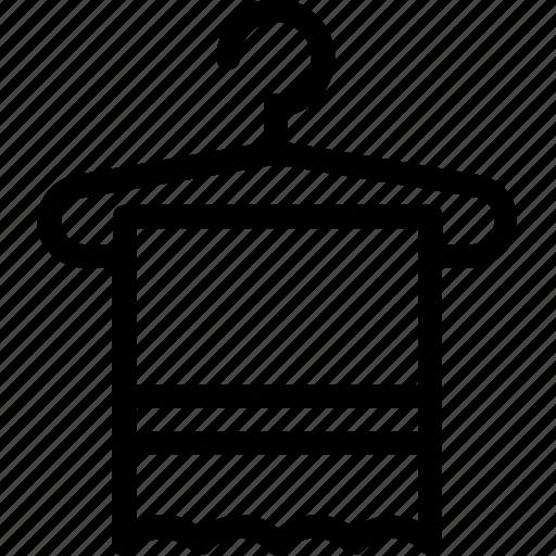 bathroom, fabric, hanger, towel, wiping icon