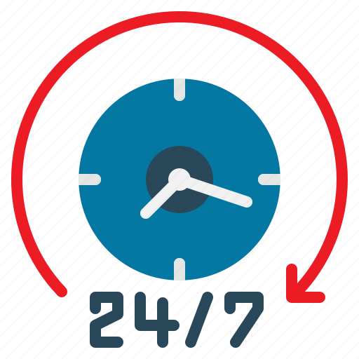 Customer, hour, service, support, hours, availability icon
