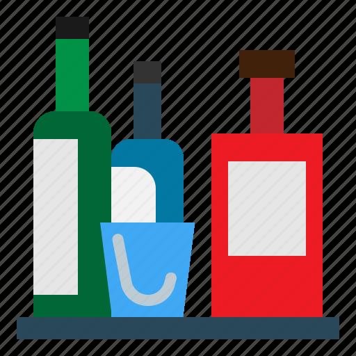 Hotel, bottle, service, minibar icon