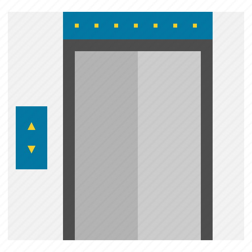 elevator, hotel, service, travel icon