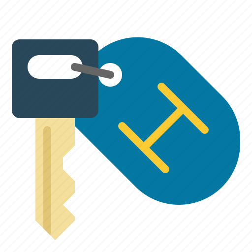 Hotel, key, keychain, room icon - Download on Iconfinder