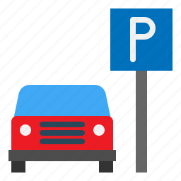 hotel, parking, service, travel icon