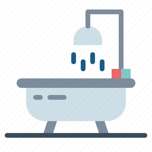 bathroom, bathtub, restroom, shower icon