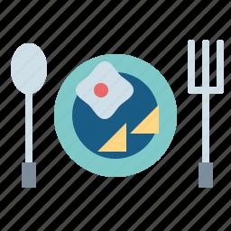 bacon, breakfast, egg, fried, lunch icon