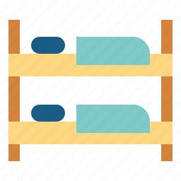 bed, bedroom, beds, bunk, furniture icon