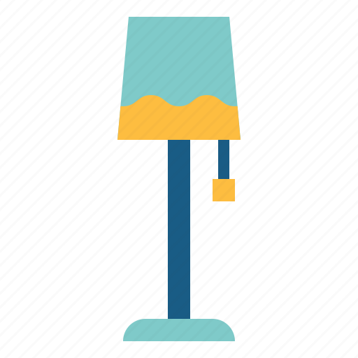 floor, lamp, light, living, room icon