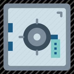 bank, box, safe, savings, security icon