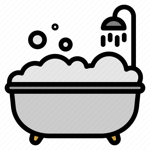 bath, bathtub, hotel, shower icon
