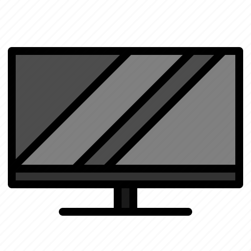 lcd, media, mornitor, set, television, tv icon
