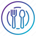 dish, food, restaurant, service icon