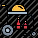 cart, food, hotel, room, tray