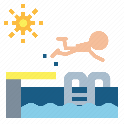 ladder, pool, sports, summertime, swimming, water icon