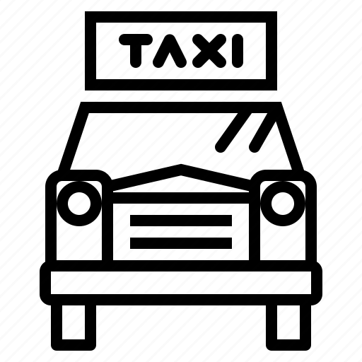 cab, car, taxi, transport, transportation, vehicle icon