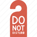 do not disturb, hotel, service, sign icon