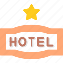 hotel, one, service, star icon