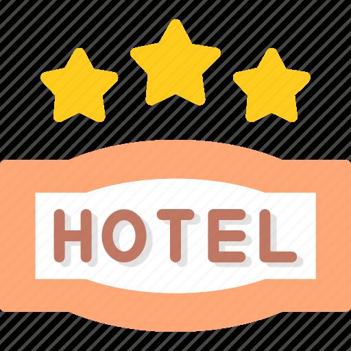 Hotel, service, star, three icon - Download on Iconfinder