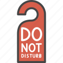 do not disturb, filled, hotel, outline, service, sign