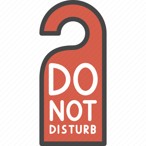 do not disturb, filled, hotel, outline, service, sign icon