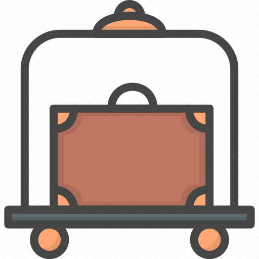 bell, filled, hop, hotel, outline, service icon