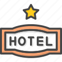 filled, hotel, outline, service, sign, star