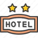 filled, hotel, outline, service, star, two