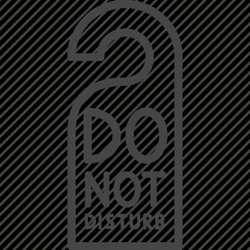 Do not disturb, hotel, line, outline, service, sign icon - Download on Iconfinder