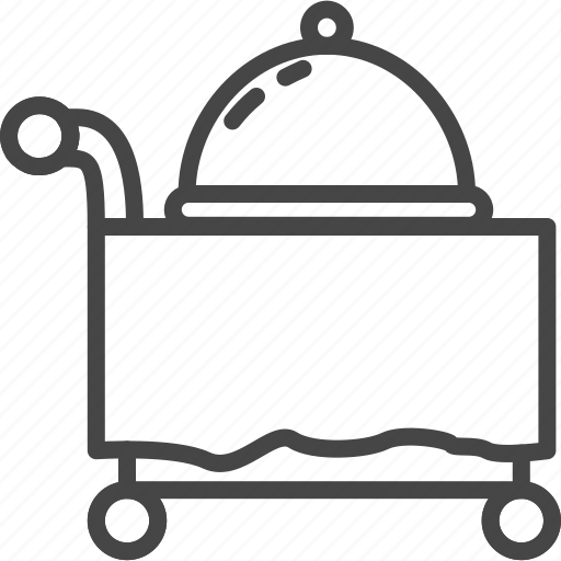 hotel, line, outline, room, service icon