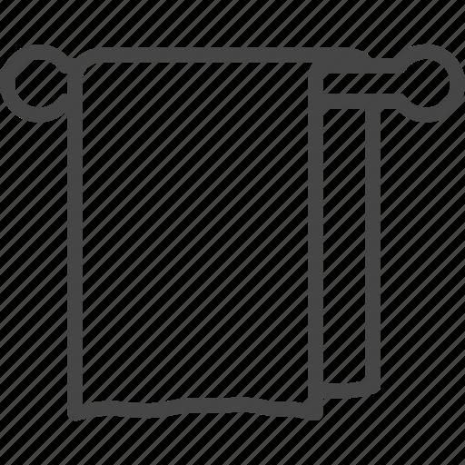 Bath, hotel, line, outline, service, towel icon - Download on Iconfinder