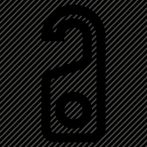 door, hanger, key, sign icon