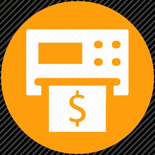 atm, cash, machine, money, teller, withdrawal icon