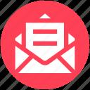 envelope, letter, mail, message, open letter