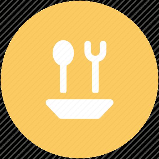 cutlery, eating, flatware, fork, restaurant, spoon, utensil icon