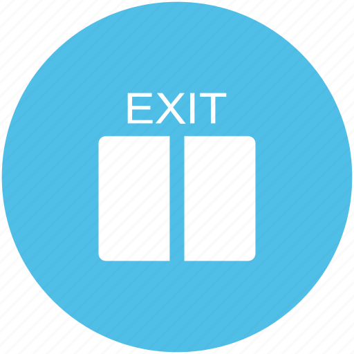 exit, exit sign, exit signal, house door, out sign icon