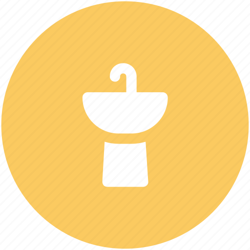 Basin, hand basin, sink, sinker, wash basin, washbowl, washing icon - Download on Iconfinder